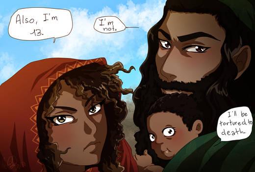 Maria, Yusuf and Baby Issah