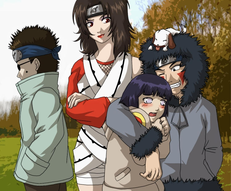 Kiba - Hinata - Shino Anime Wallpaper