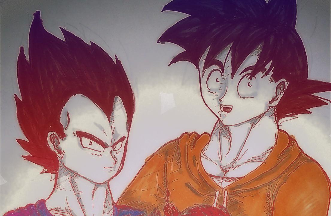 Vegeta x Goku by chiici on deviantART