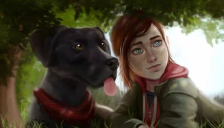 Ellie and Doggo by SasjaAnne