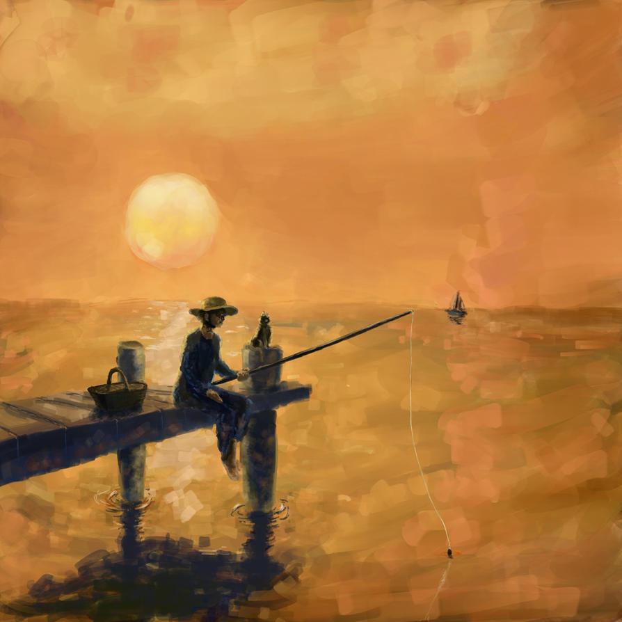 Sunset fishing by ezhhh