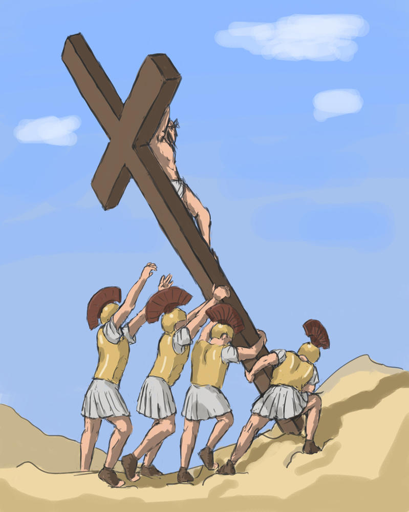 Raising the Cross over Golgotha by ezhhh