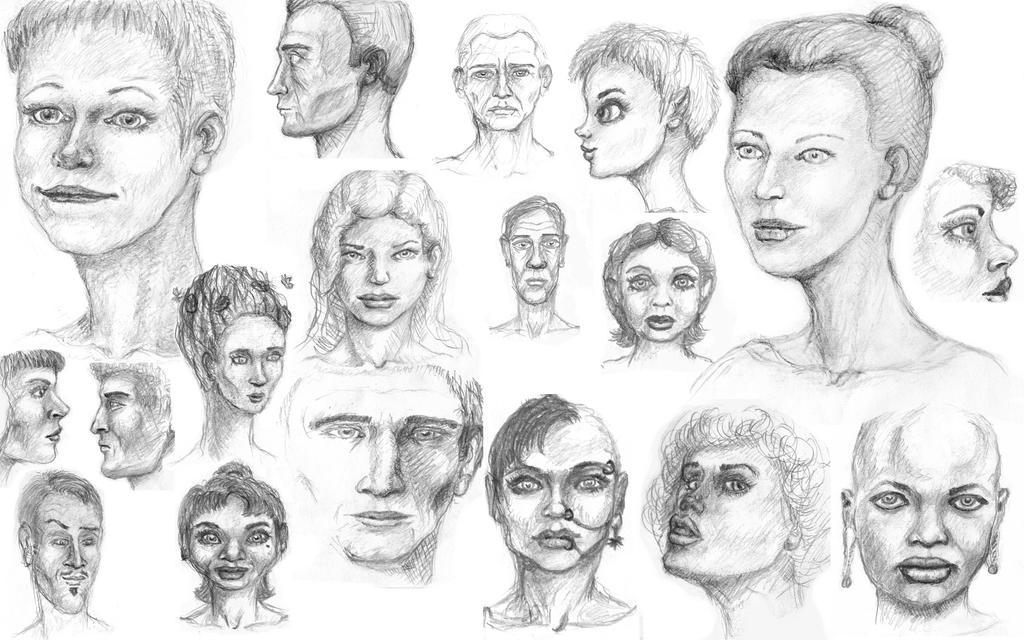 Faces by ezhhh
