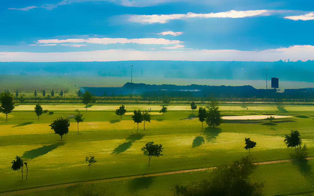 Morning landscape with a fence (blur version) by ezhhh