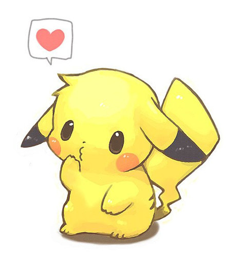 Pikachu Love Drawing