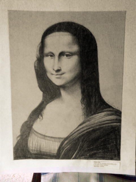 how to draw mona lisa with pencil