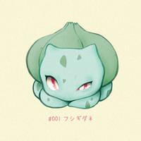#001 Bulbasaur - Fushigidane by Melllorine
