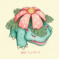 #003 Venusaur - Fushigibana by Melllorine