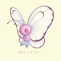 #012 Butterfree - Batafurii by Melllorine
