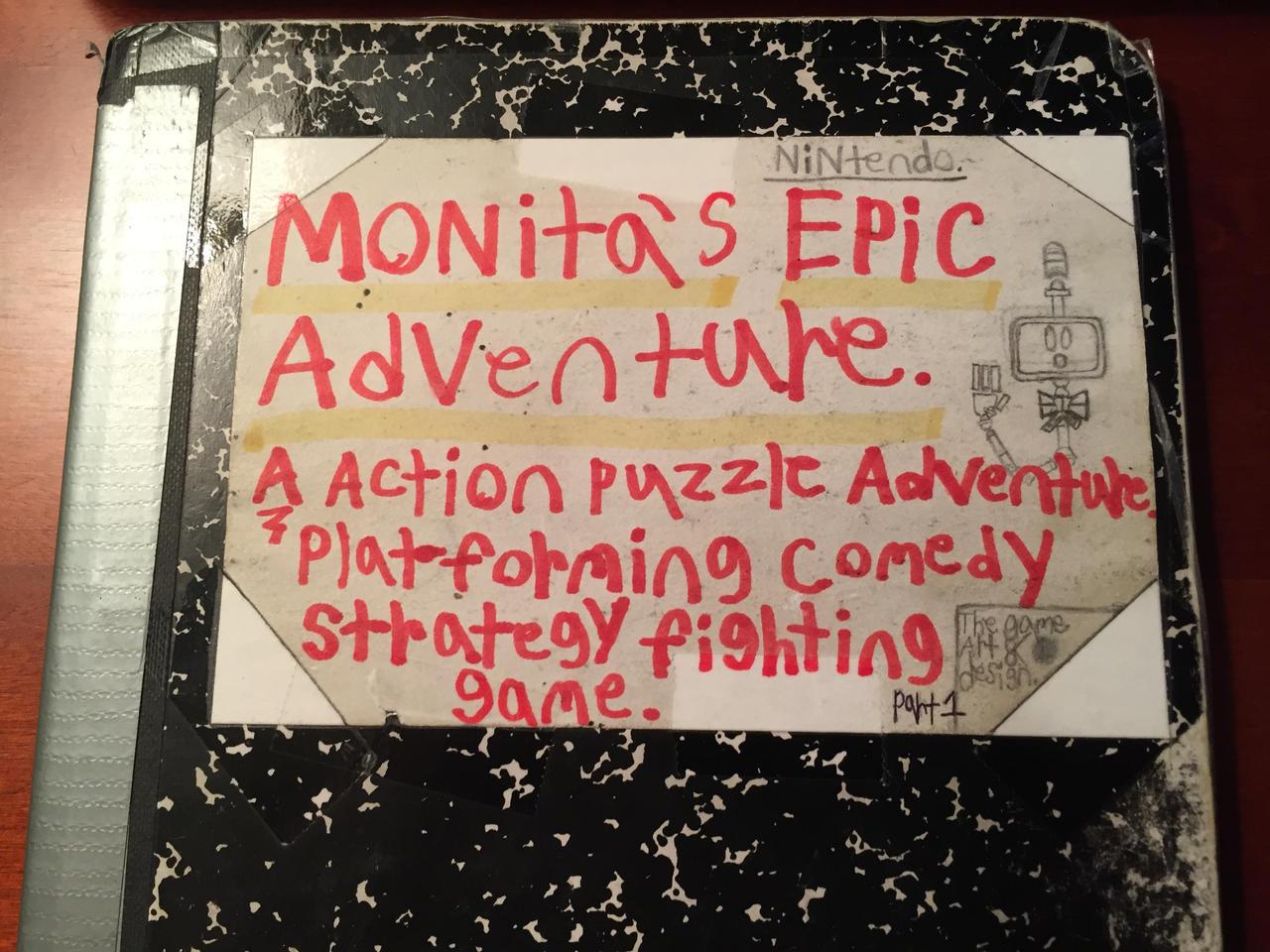 Monita's epic Adventure book cover by TristanMendez