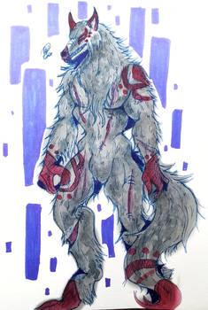 [ota-open]  Howling Fright (watercolor sketch)