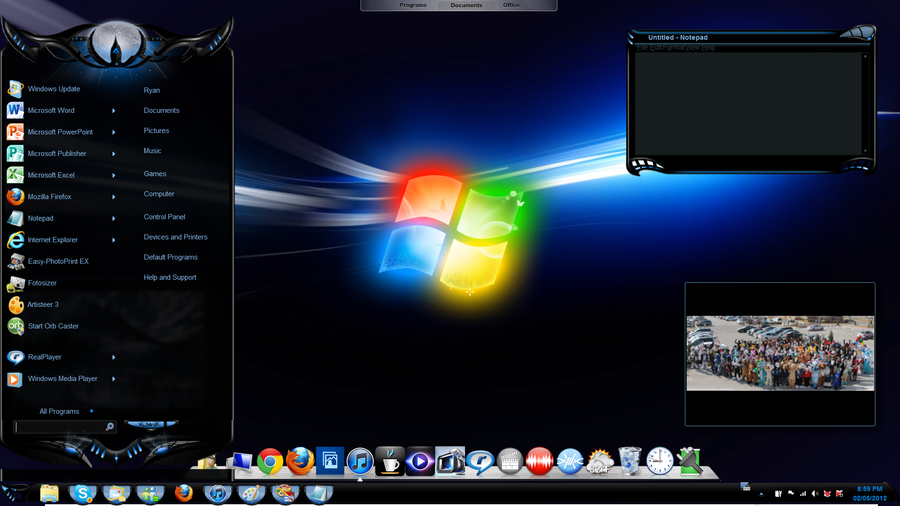 Custom windows 7 desktop by lightningthefox7 on deviantart for Custom vinyl windows online
