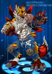 Weregaruru Fox by LightningTheFox7