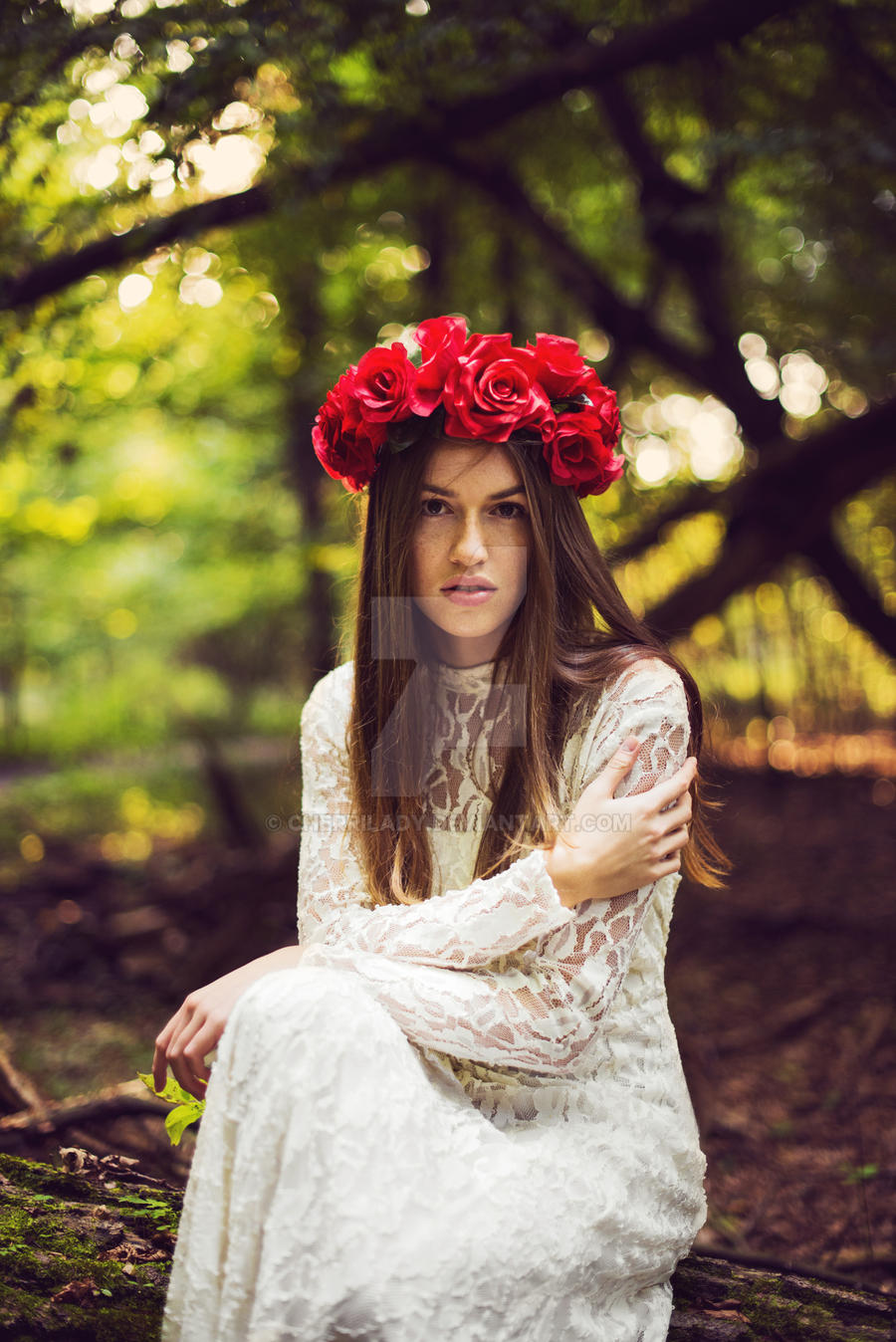 Bride with flower crown ii by cherrilady on deviantart bride with flower crown ii by cherrilady izmirmasajfo