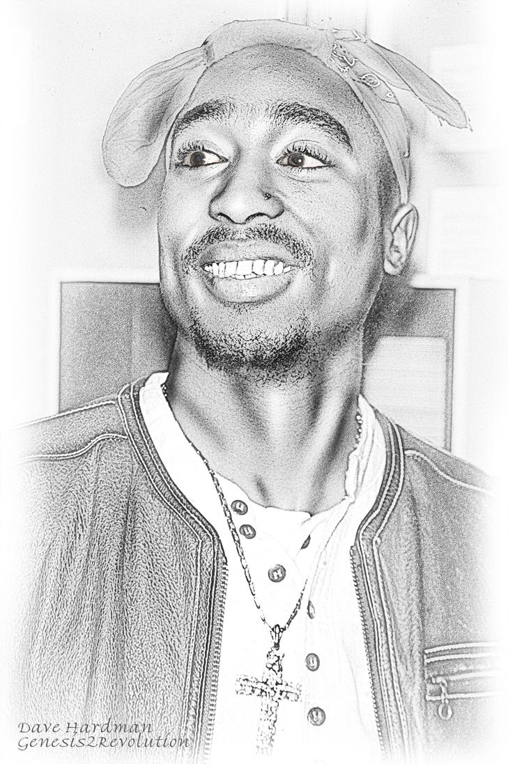 Tupac Portrait by Genesis2Revolution