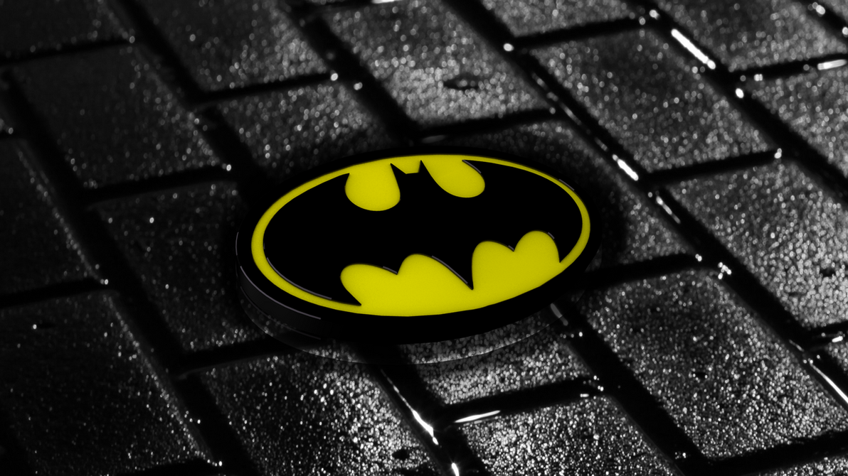 Batman 3D logo Wallpaper by RainbowZz-Design on DeviantArt