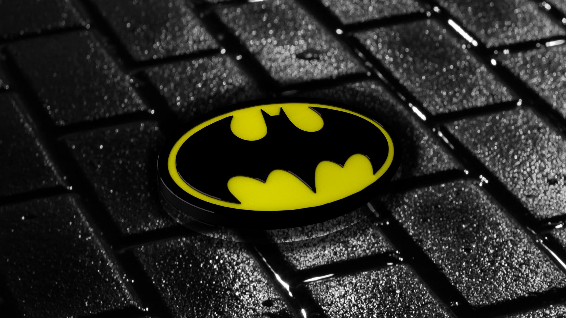 Batman 3D logo Wallpaper by RainbowZz