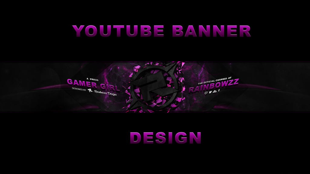 Youtube Banner Design By Rainbowzz Design On Deviantart