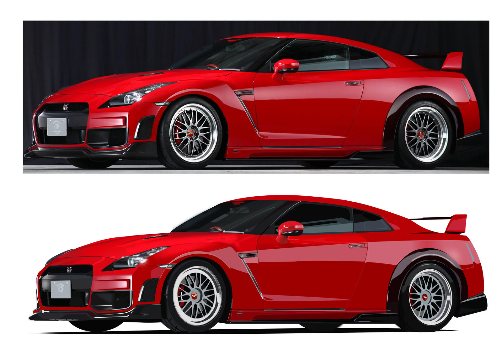 Red Sports Car FINISHED By DarknessRise On DeviantArt - Red sports car