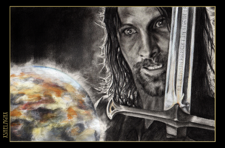 LOTR Aragorn taunts Sauron by xshelaghx