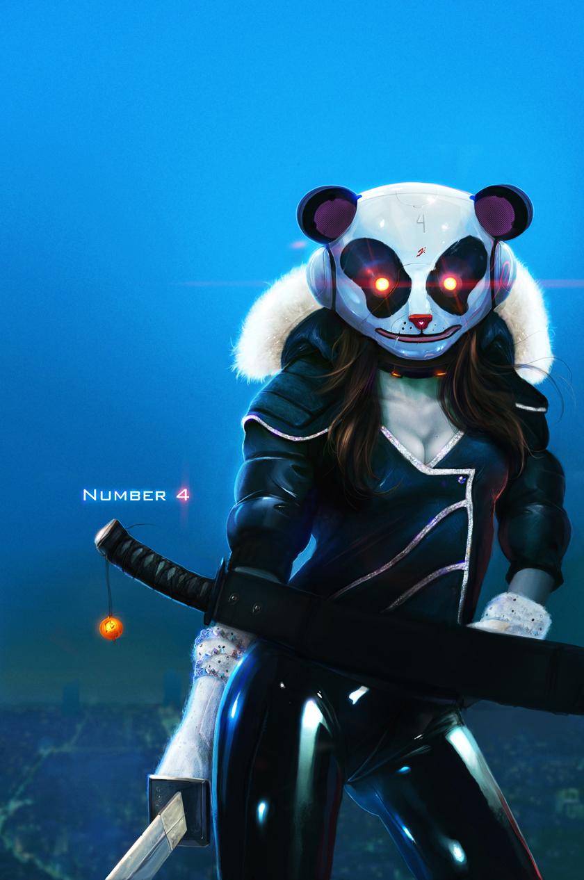 Аниме панда арт
