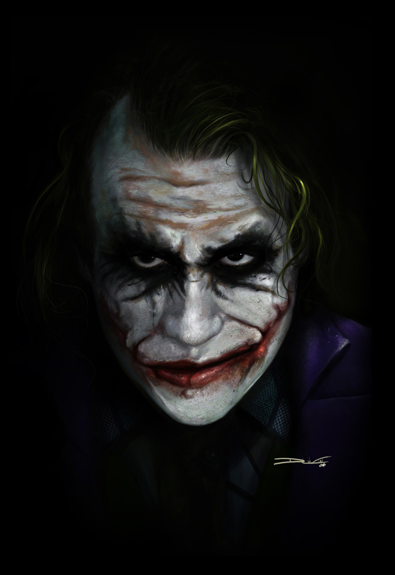 The Joker - by DanLuVisiArt on DeviantArt: danluvisiart.deviantart.com/art/The-Joker-91571267