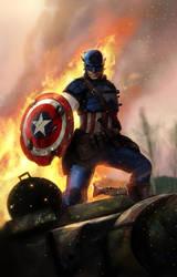 Captain America - by DanLuVisiArt