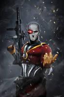 Secret Six 15 - Deadshot - by DanLuVisiArt
