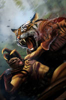 Secret Six 17 - Cat Fight by DanLuVisiArt