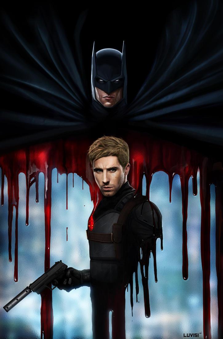 Batman and Nemesis - DC Comics by DanLuVisiArt