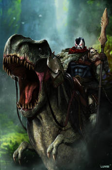 DC Comics - Riding a T-Rex