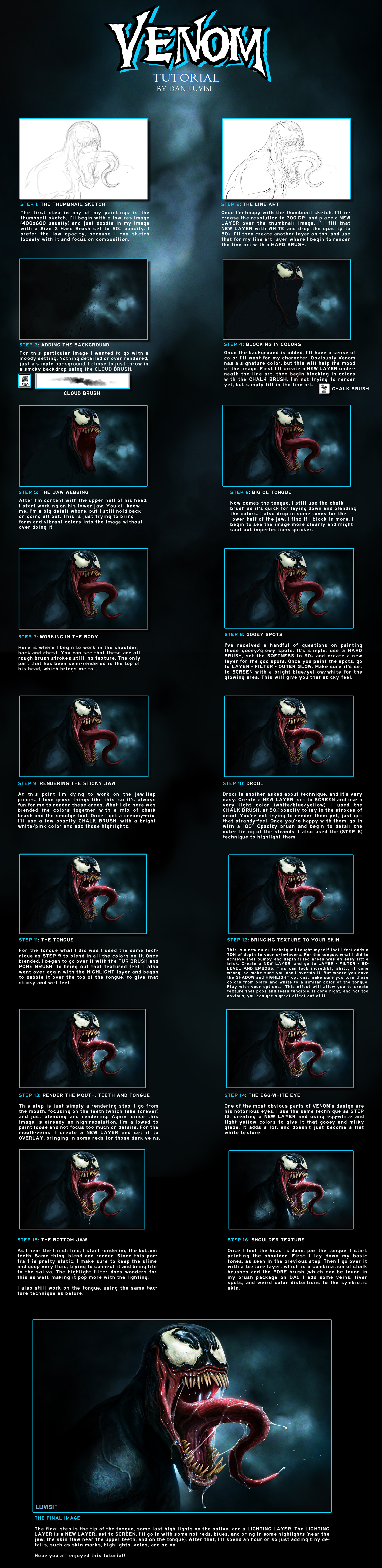 VENOM - TUTORIAL by DanLuVisiArt