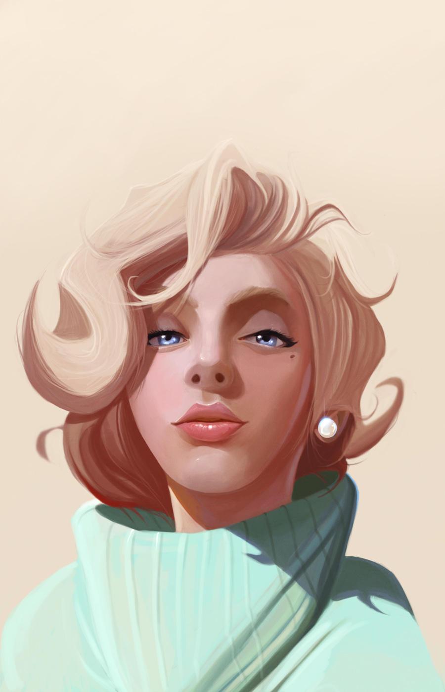 Scarlett Monroe - by DanLuVisiArt