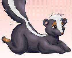 Chilling skunk by Alvro