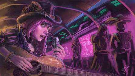 Streetside Musician by DeVmarine