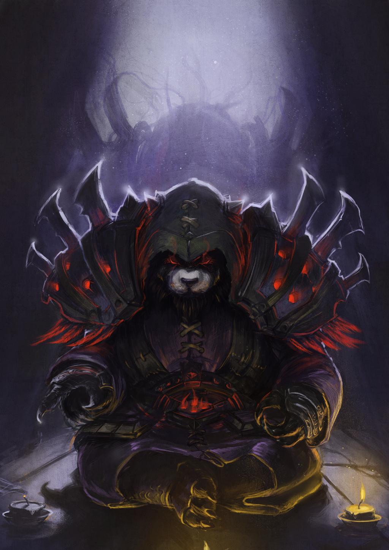 pandaren shadow priest by devmarine watch digital art drawings ...