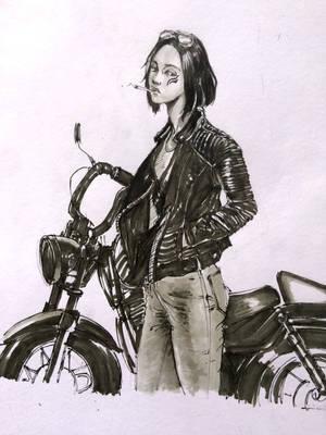 Biker Girl Marker by DeVmarine