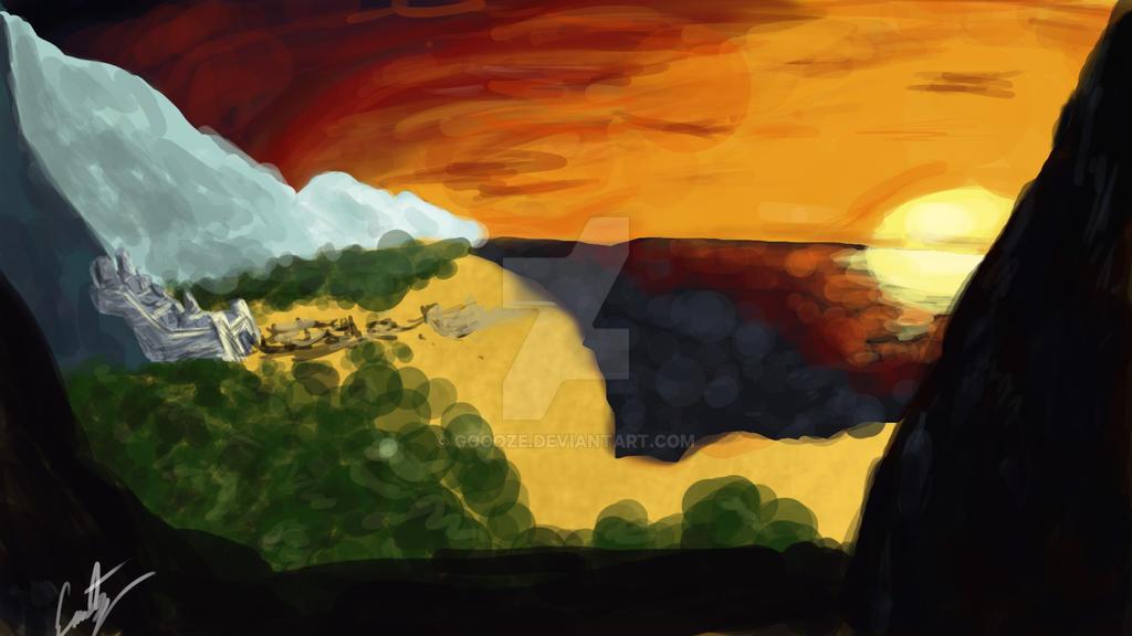 Landscape #4 Sundown by Goooze