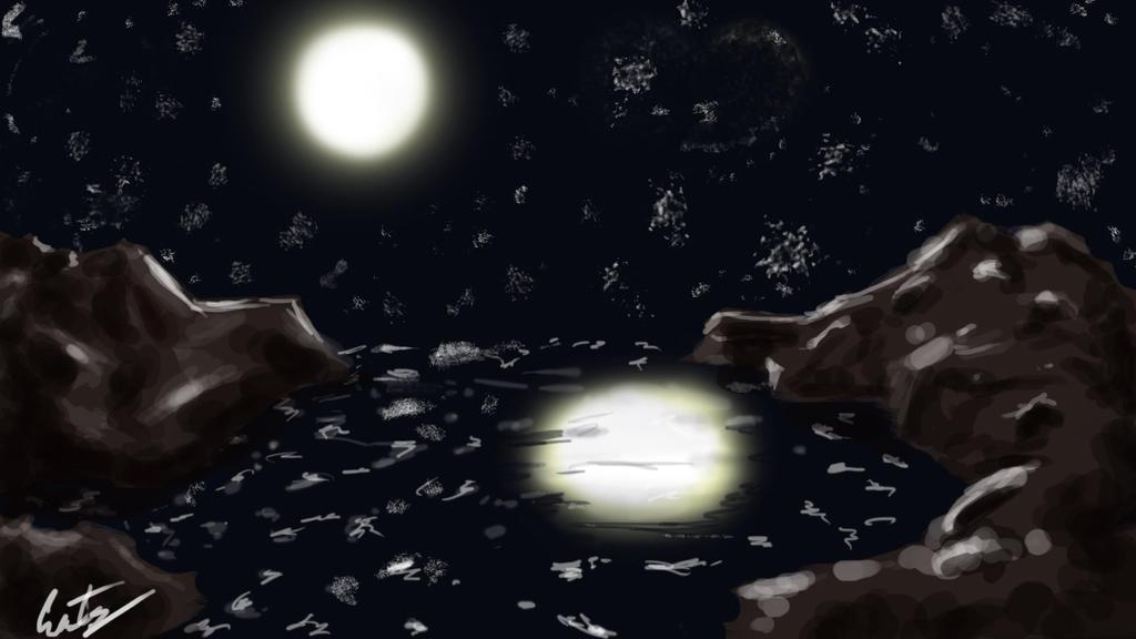 Landscape #6 Moonlight by Goooze
