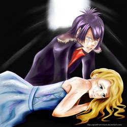 KHR:Daemon Spade x Elena by myek