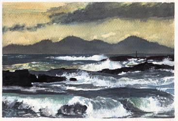 brava mar (watercolor) by Vidk000