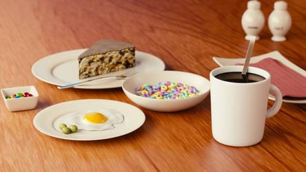 Mostly Unhealthy Breakfast