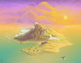 Island - 2010 Game Concept Art by merbel