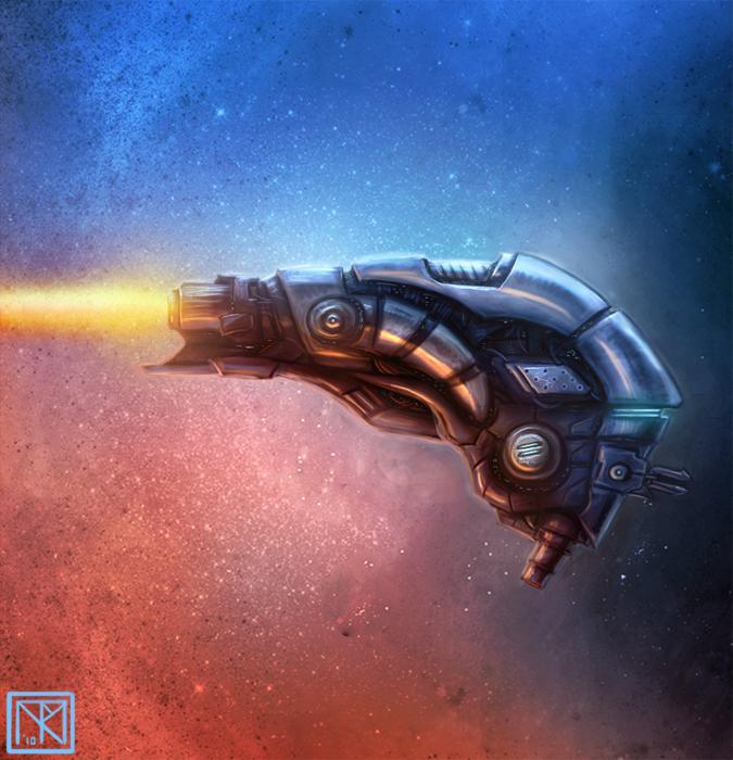 Starship Concept VI by merbel