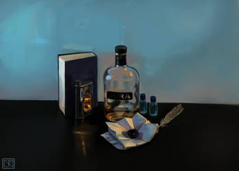 Still Life with Scotch Whisky by merbel