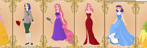 My Little Disney- Mane Six Princesses by MonstrousPegasister