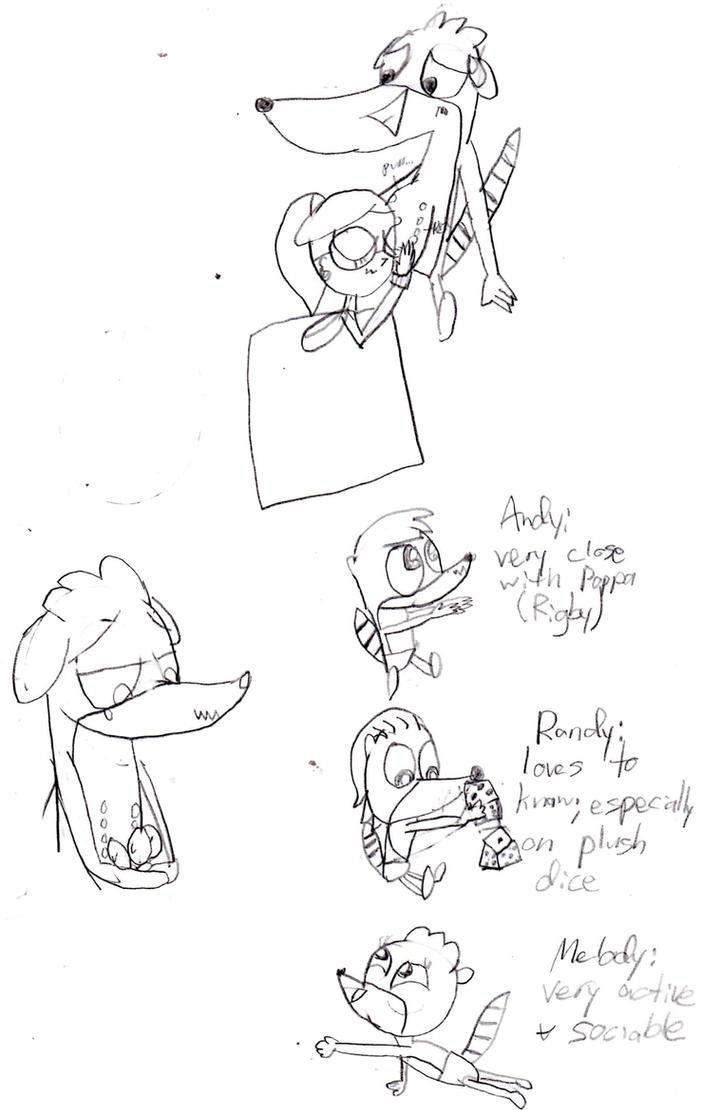 Mpreg Rigby sketches by MonstrousPegasister