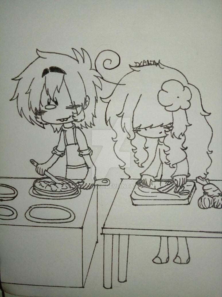 Cooking Time (LineArt) by Royszawa