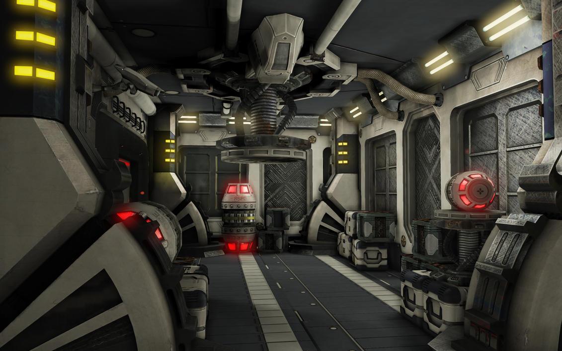 Sci fi corridor by quytin on deviantart - Wallpaper corridor ...