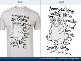 T-shirt design #2 - (Soft Kitty) Grumpy Kitty